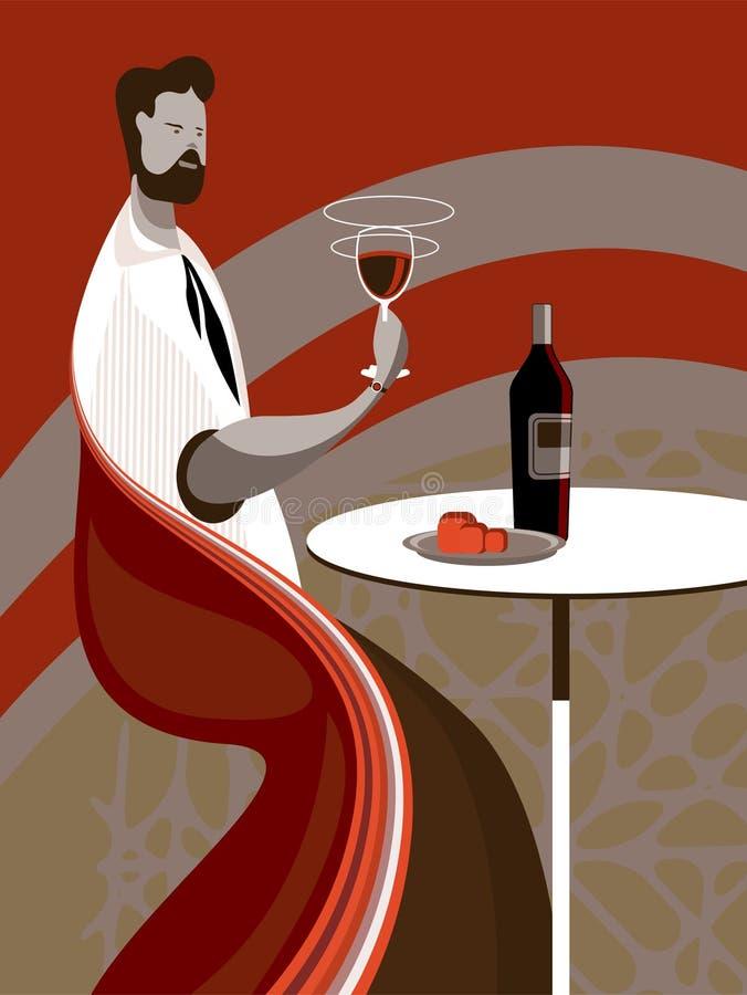 Vinho do gosto ilustração stock