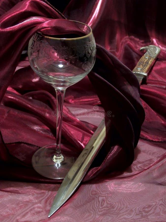 Vinho e baioneta foto de stock royalty free
