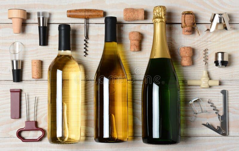 Vinho e Champagne With Accessories fotografia de stock