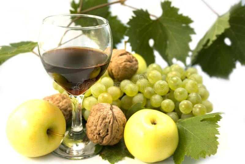 Vinho e frutas foto de stock royalty free