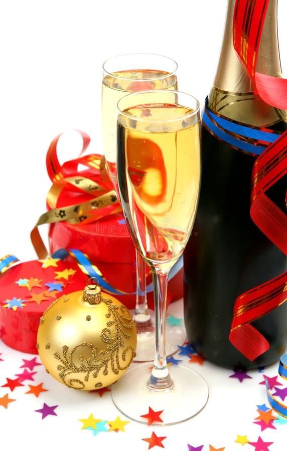 Vinho e presentes imagens de stock royalty free