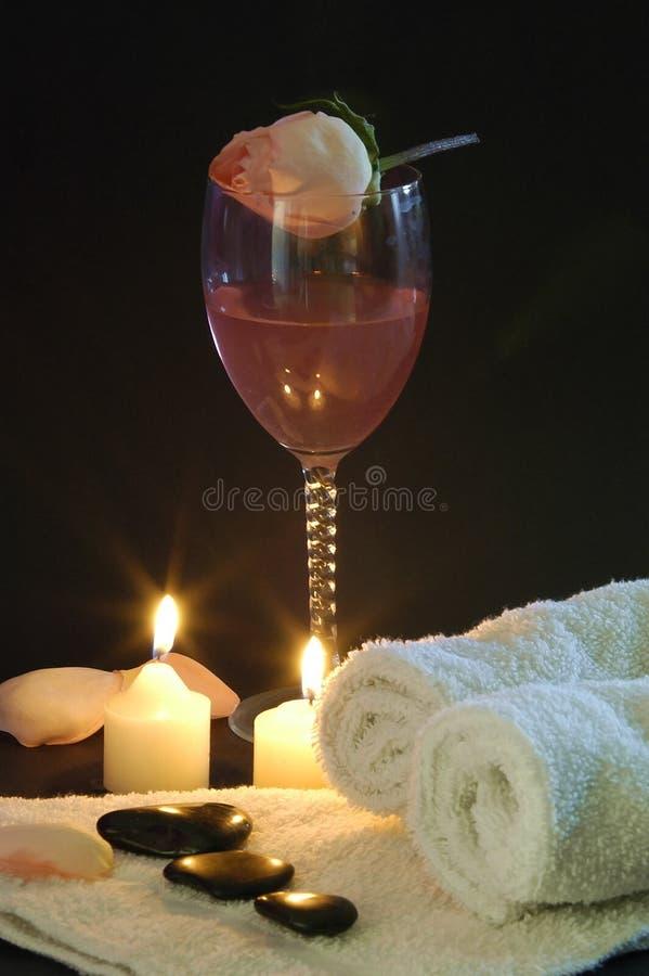 Vinho e romance fotografia de stock
