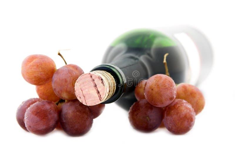 Vinho e uvas imagens de stock royalty free