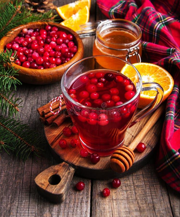 Vinho ferventado com especiarias quente do Natal fotografia de stock royalty free