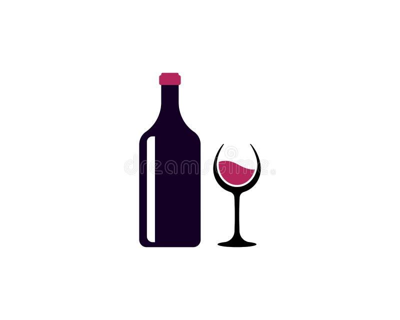 Vinho Logo Design Template ilustração stock