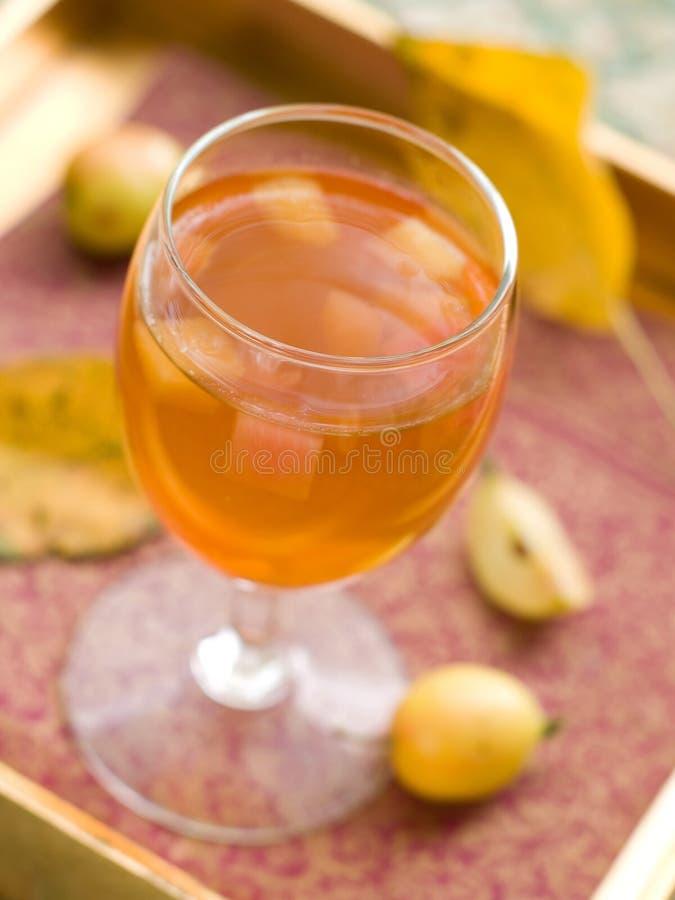 Vinho ou cidra de Apple imagens de stock