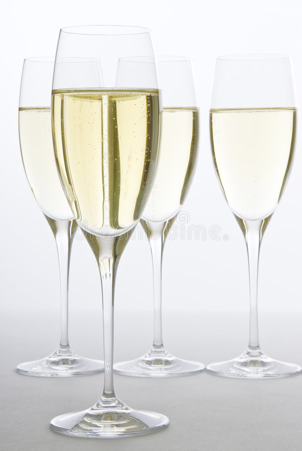 Vinho Sparkling branco foto de stock royalty free