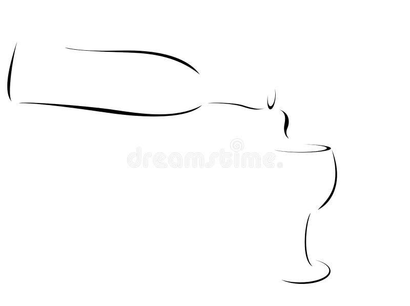 Vinho, sumário ilustração stock