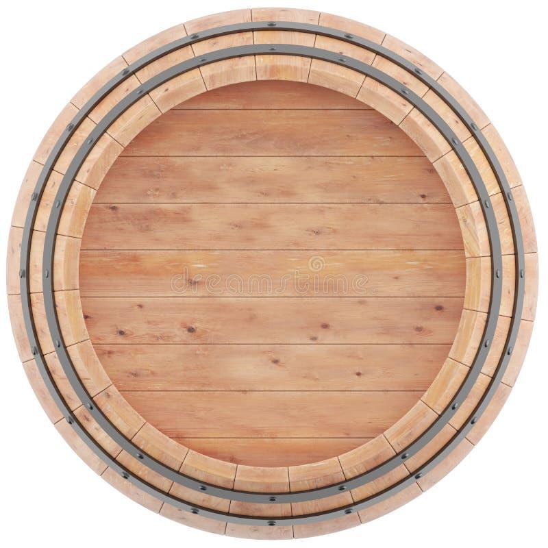 Vinho, uísque, rum, opinião superior de tambor de cerveja ilustração do vetor