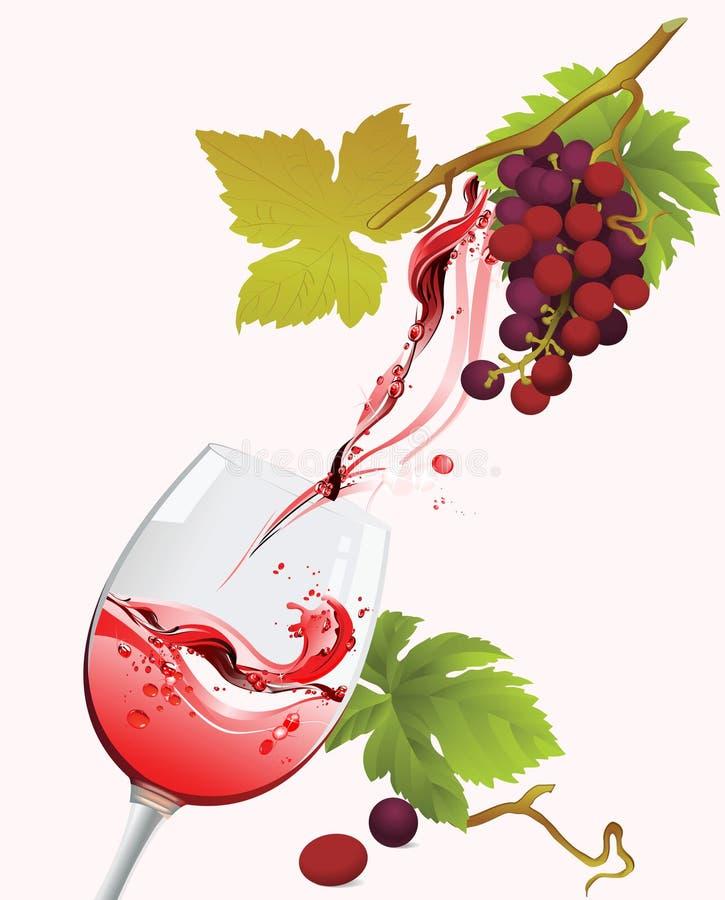 Vinho vermelho. ilustração royalty free