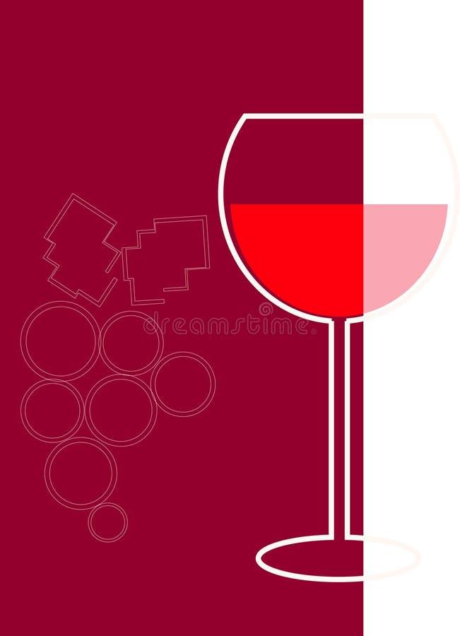 Vinho vermelho ilustração royalty free