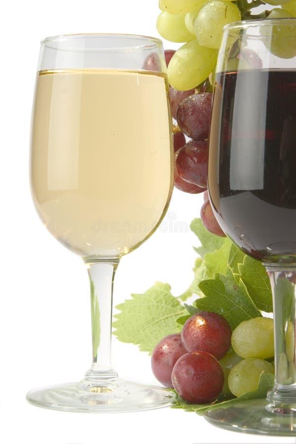 Vinho vermelho & branco fotografia de stock