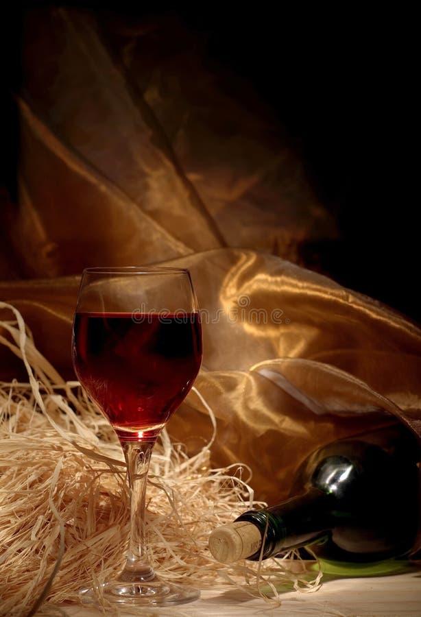 Vinho vermelho com frasco fotografia de stock
