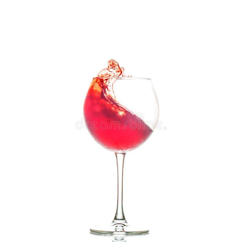 Vinho vermelho em um vidro O conceito de bebidas alcoólicas, restaur imagens de stock
