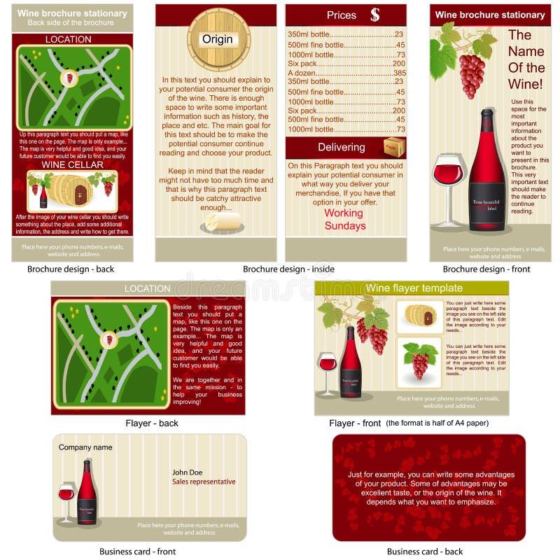 Vinho vermelho estacionário ilustração stock