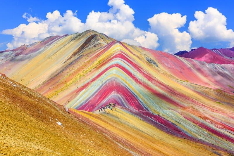Vinicunca, Cusco Region, Peru. Montana de Siete Colores, or Rainbow Mountain royalty free stock image