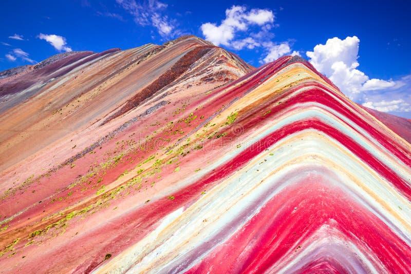 Vinicunca, montagne d'arc-en-ciel - P?rou image libre de droits