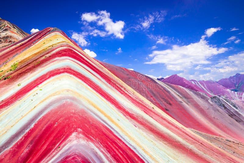 Vinicunca, Rainbow Mountain - Peru royalty free stock images