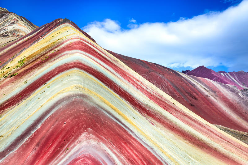 Vinicunca, Rainbow Mountain - Peru royalty free stock photos