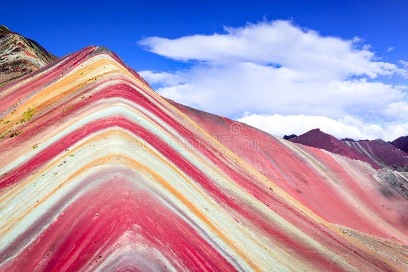Vinicunca, Rainbow Mountain - Peru stock photography