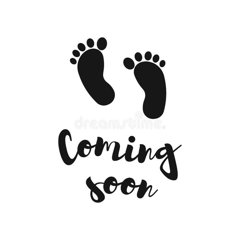 Viniendo pronto, ejemplo del vector Ducha de beb? stock de ilustración