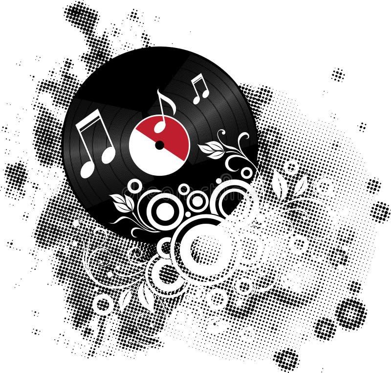 Download Vinil stock illustration. Image of scratch, melody, technology - 18737513