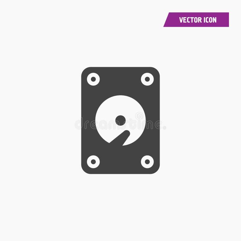Vinil preto, vetor do ícone do jogador do gramofone ilustração stock