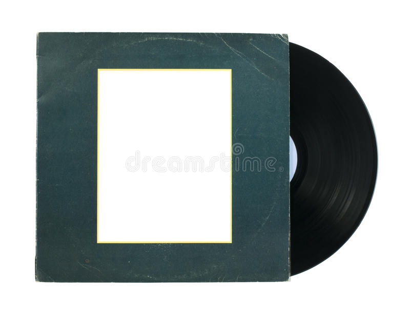 Vinil Record. And cover white isolated royalty free stock photos
