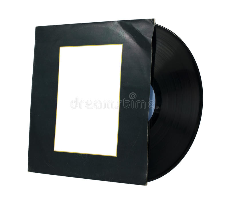 Vinil Record. And cover white isolated royalty free stock image