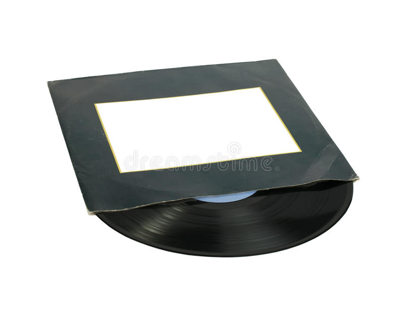 Vinil Record. And cover white isolated royalty free stock photography