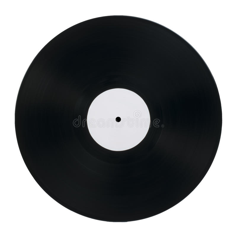 Vinil Record. White isolated stock image