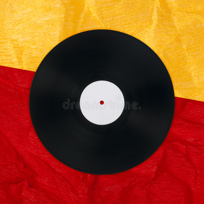 Vinil Record. On vintage paper royalty free stock image