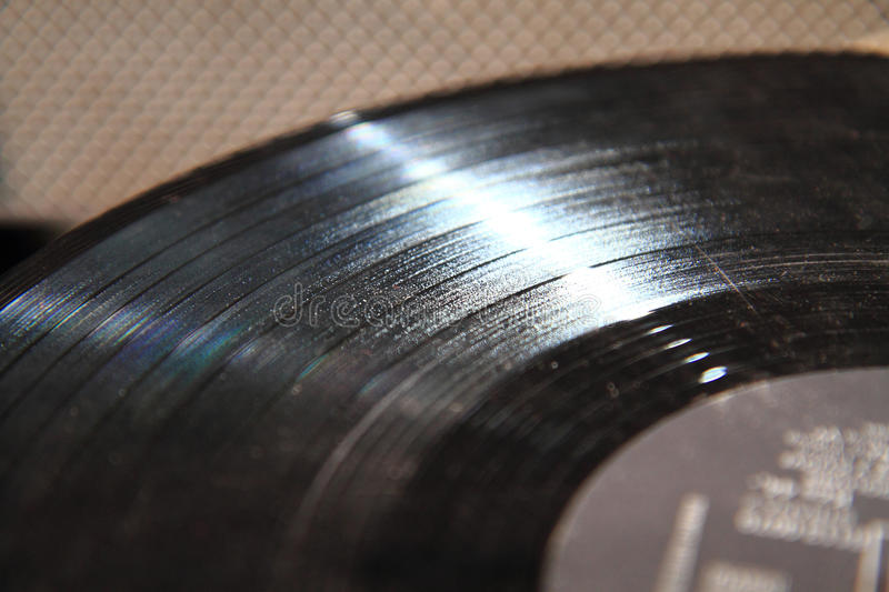 Vinil record detail. As nice music background royalty free stock images