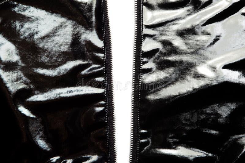 Vinilo negro desabrochado imagen de archivo libre de regalías