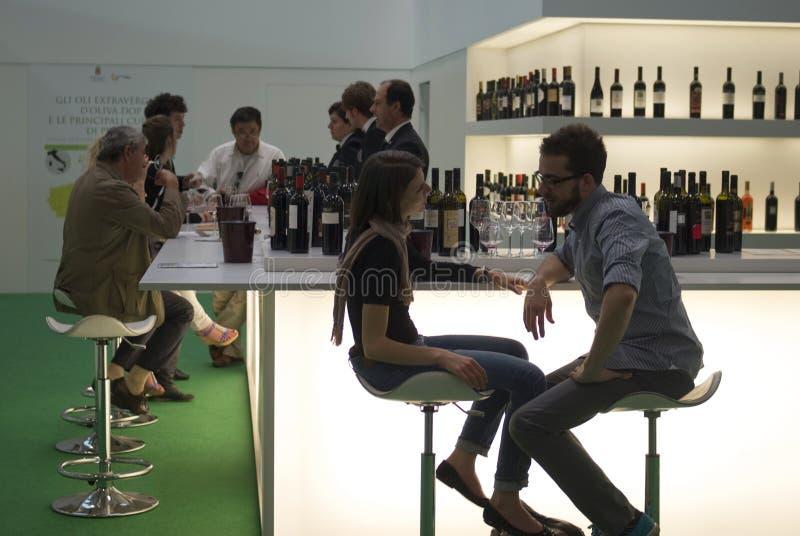 vinitaly陈列国际酒 免版税库存照片