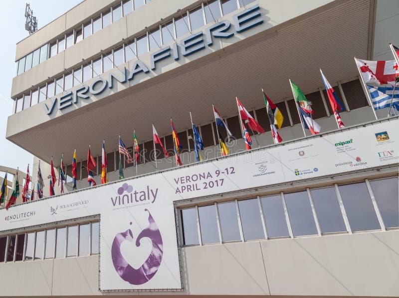 Vinitaly - Międzynarodowa wino wystawa 9-12 2017 Kwiecień Verona włochy obrazy royalty free