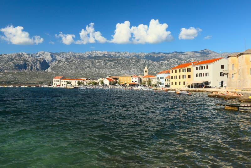Vinjerac, Zadar, Dalmacia, Croacia imagen de archivo libre de regalías