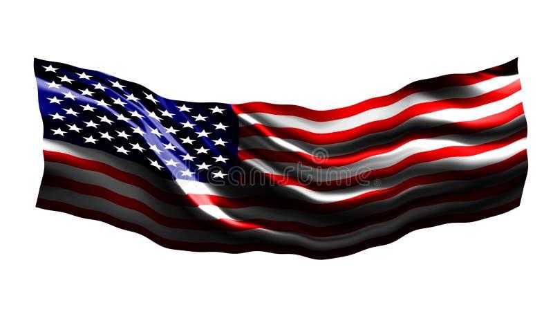 Vinka amerikanska flaggan vektor illustrationer