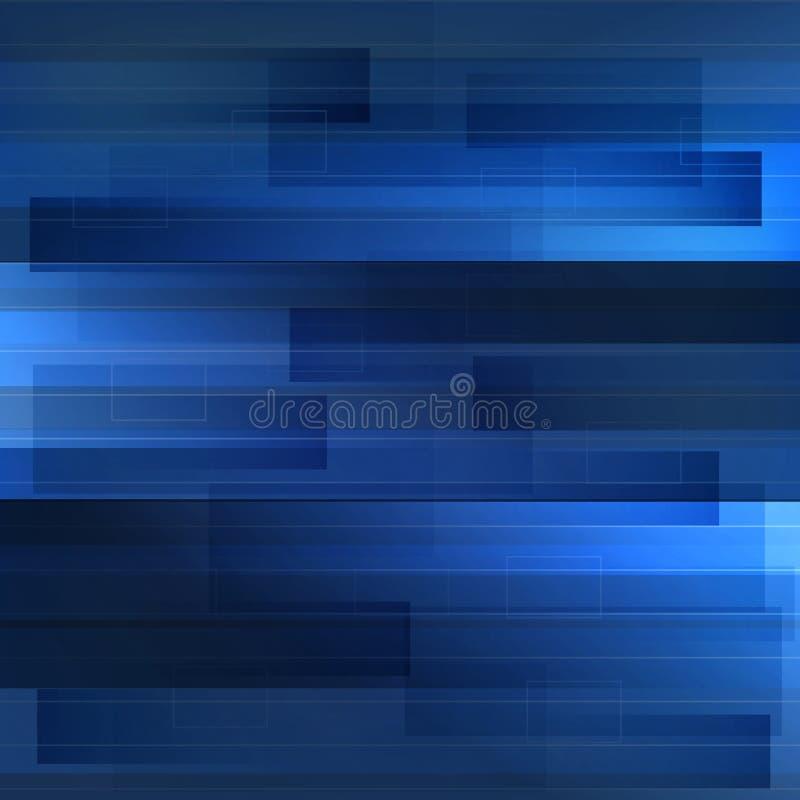 Vinka blå teknologibakgrund med former och linjen Abstrakt begrepp vektor illustrationer