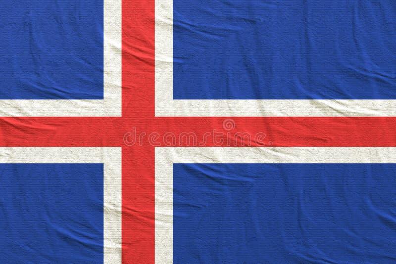 Vinka för Island flagga vektor illustrationer