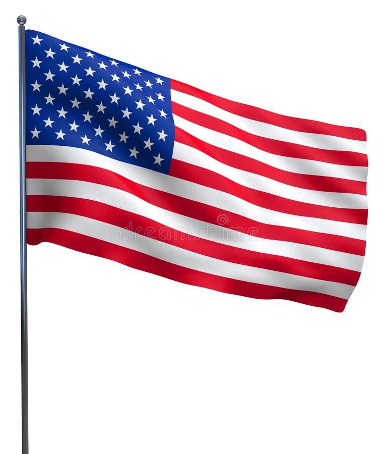 Vinka för USA amerikanska flaggan vektor illustrationer
