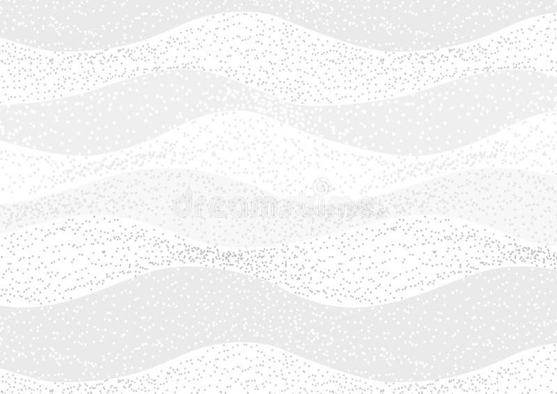 Vinkad bakgrund för modell för vit textur för prickabstrakt begrepp sömlös vektor illustrationer