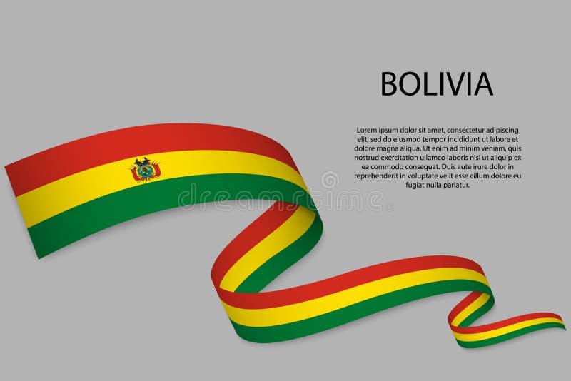 Vinkande band eller baner med flaggan vektor illustrationer