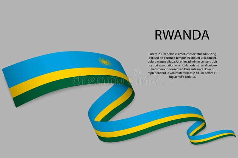 Vinkande band eller baner med flaggan royaltyfri illustrationer