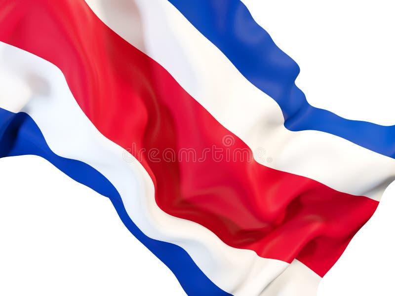 Vinkande flagga av Costa Rica royaltyfri illustrationer