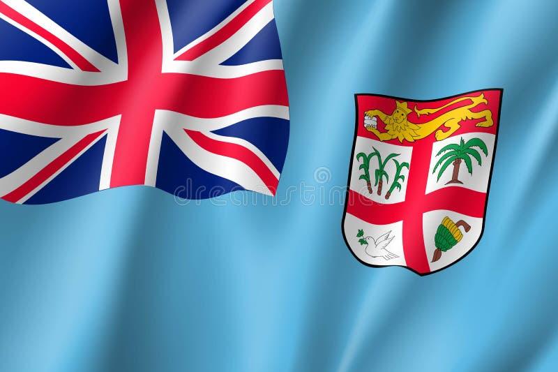 Vinkande flagga av Fijiöarna vektor illustrationer