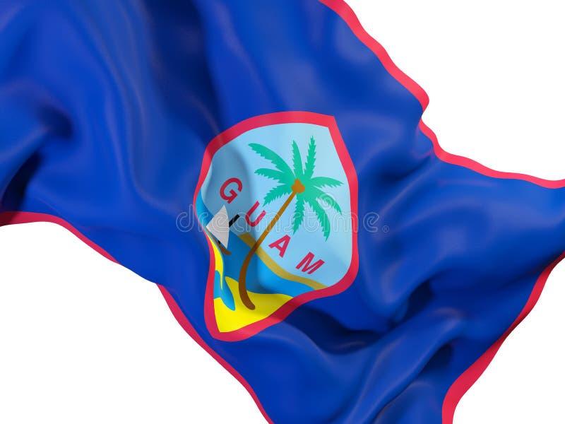 Vinkande flagga av Guam royaltyfri illustrationer