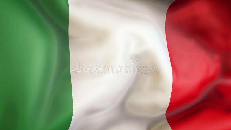 Vinkande flagga av Italien, patriot av Italien royaltyfri illustrationer