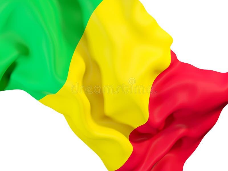 Vinkande flagga av Mali stock illustrationer