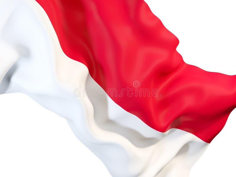 Vinkande flagga av Monaco royaltyfri illustrationer